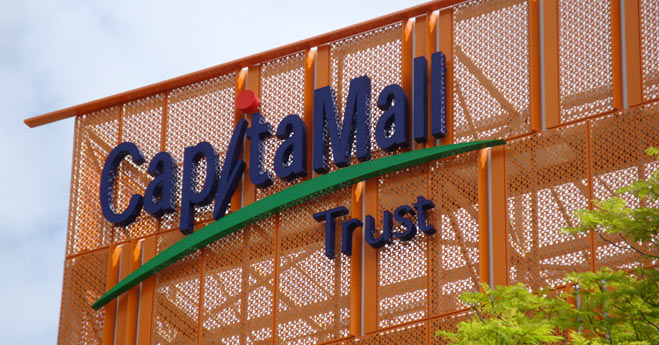 Capita mall lettering signage - Singapore